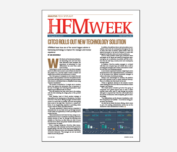 HFM Week Article - Citco rolls out new technology solution