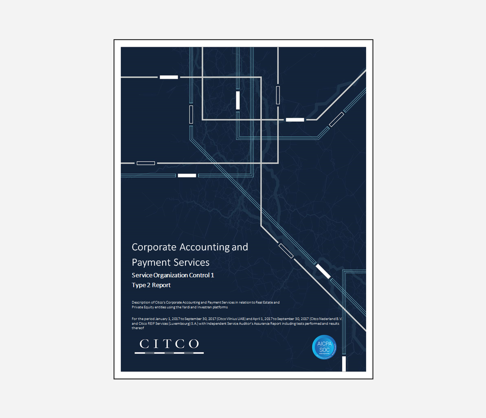 Citco announces completion of the Corporate Accounting and Payment Services SOC 1 Type #2 report